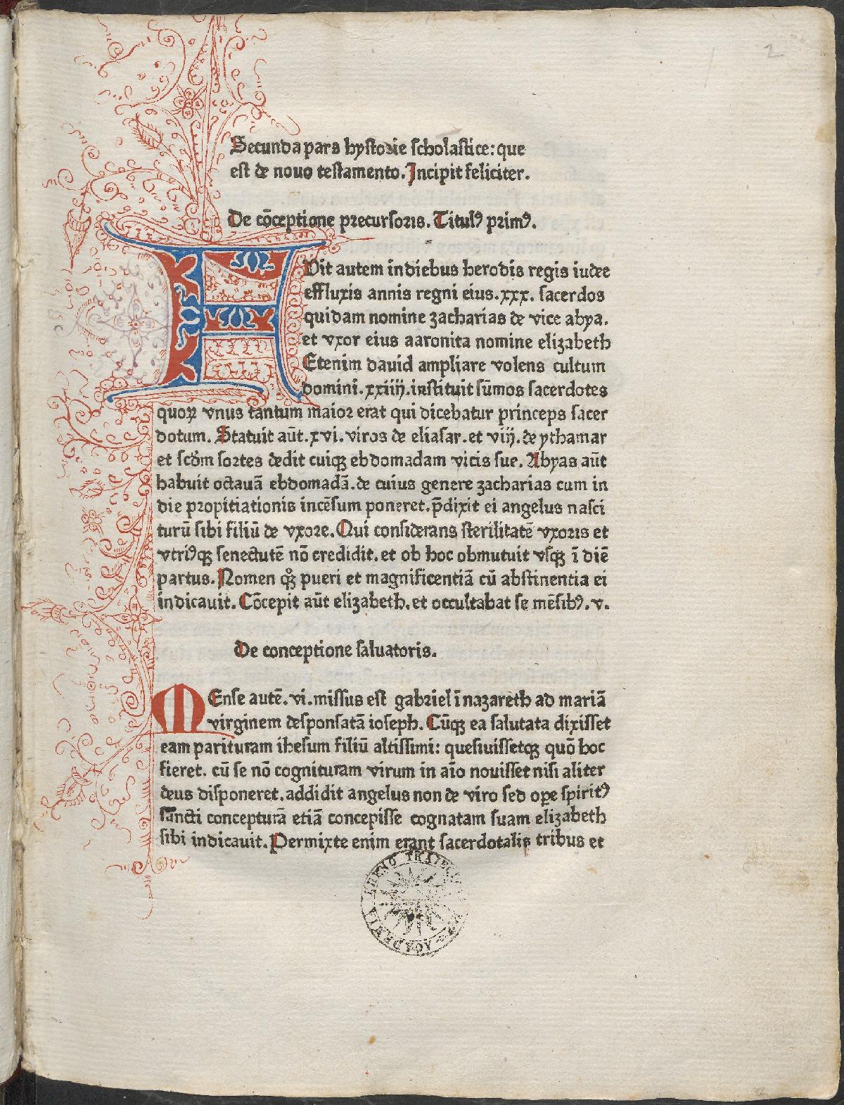 Pagina 'Historia Scholastica'