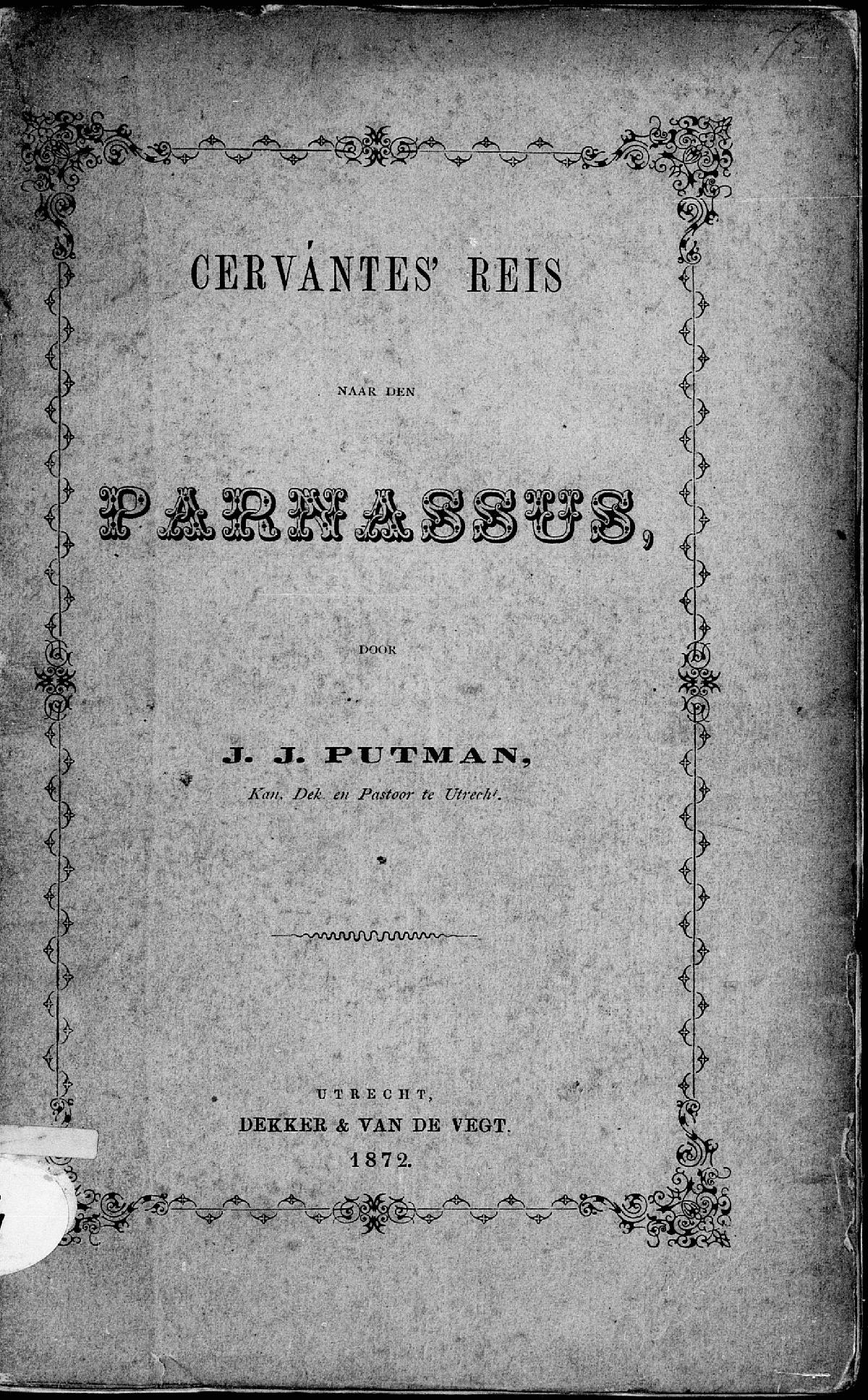 Cervantes' Reis naar den Parnassus