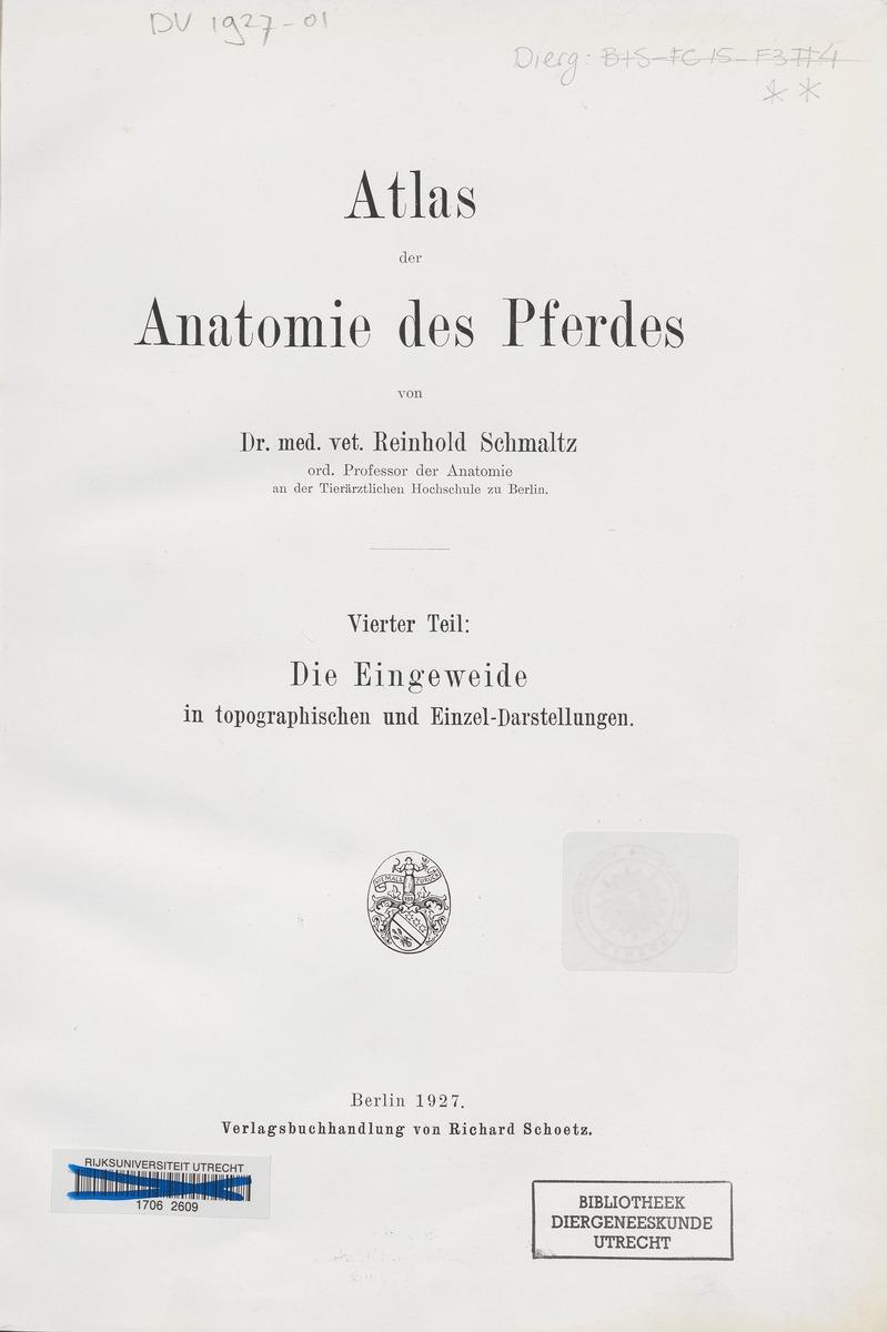 Atlas der Anatomie des Pferdes / ...